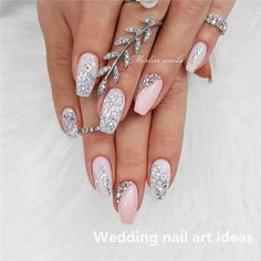 30 Adorable Nail Art Designs of 2019 Let mama cook delicious cookies. You just sit back and Adorable Nail Art Designs of Ballerina Nails in Muted ColorsThis Fabulous Nails, Gorgeous Nails, Pretty Nails, Simple Wedding Nails, Wedding Nails Design, Elegant Nails, Stylish Nails, Nagel Stamping, Natural Gel Nails