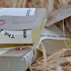A zingy grapefruit soap made from the pure distilled oil of grapefruit. A pure wake me up bar ideal for the morning shower!