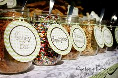 ice-cream-parlor-birthday-party-toppings... Maybe have small unfrosted cupcakes for this to top