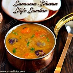 The secret of this Saravana Bhavan Style Sambar Recipe / Hotel Sambar is in grinding of tomato and fried gram, which makes a difference from other sambar.