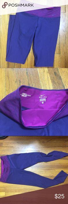 Nike purple Dri-fit workout leggings M Gently loved Nike workout leggings. Size M Nike Pants Track Pants & Joggers