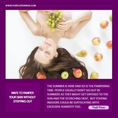 You must take care of your skin, but that doesn't mean spending the whole day on it, but just taking out a few minutes from your busy day for some serious skin care remedies which is necessary.  #Skin #SkinCare #SkinCareRemedies #Vogue #WaysToPamperYourSkin #Purplepennon #BeautyTips Skin Care Remedies, Summer Is Here, Take Care Of Yourself, Skin Care Tips, Your Skin, Beauty Hacks, Skincare, Vogue, Skin Tips