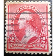 United States Postage, George Washington, 2 C, American Bank Note Company, 1890 used VF