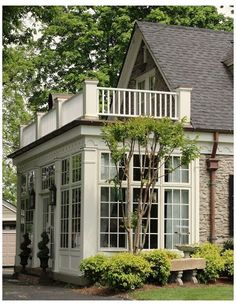 Sunroom Decorating, Screen House, Enclosed Patio, Pergola Attached To House, Room Additions, House With Porch, House Roof, Screened In Porch, Porches