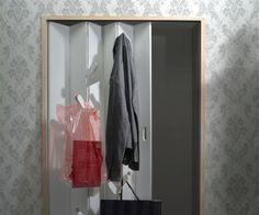 Confused about what to wear, hang out your choices on the closet door, and decide! Saves time besides space.