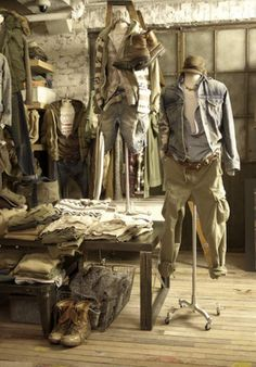 What my heart loves and what makes it go pitter patter. Stylish Men, Men Casual, Military Fashion, Mens Fashion, Vintage Men, Vintage Fashion, Clothing Store Displays, Denim And Supply, Suit And Tie