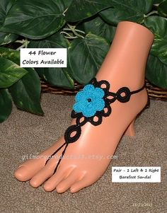 Cute summer barefoot #sandals for just a day at the beach or they would be an amazing addition for your beach wedding. Ankle toe sandles that would make any foot shine.  Bar... #handmade ➡️ http://etsy.me/1ZZ5AEd