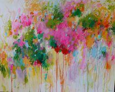 ORIGINAL abstract painting abstract art abstract tree by artbyoak1