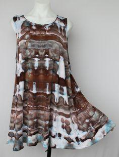 c72edd3c7da2fc Tie dye sleeveless tank top tunic ice dyed Size X Large Tie Dye Fashion