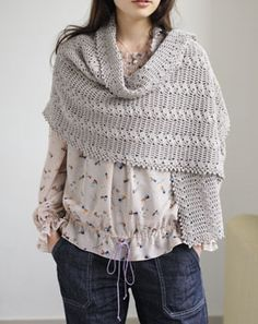 crochet shawl - nursing cover