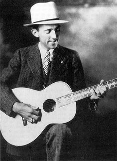 Jimmie Rodgers in one of his publicity poses, with his Weymann ...