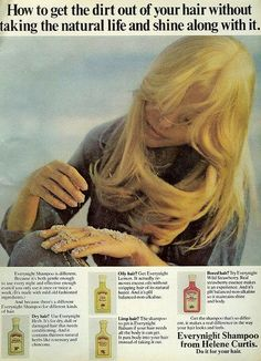 Helene Curtis Vintage Ad 1970's ***I use to use Every Night Herb for my (still) dry hair ***