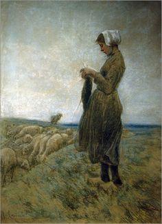 Max Liebermann - Holländisches Hirtenmädchen