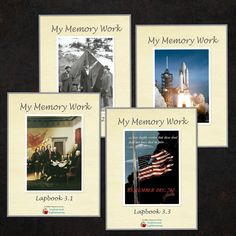 Cycle 3 Memory Work Lapbooks/binders in 6 week intervals. I really like using these. They help the kids practice without me, and make it more interesting