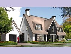 62 New Ideas Exterior House Styles Cottages Exterior Gray Paint, House Paint Exterior, Bungalow Extensions, House Extensions, Facade Design, Exterior Design, House Design, Residential Architecture, Architecture Design