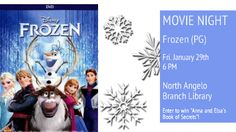 Let it Go @ North Angelo Branch Library. Tonight at 6. Giveaway too! Bring the kids!