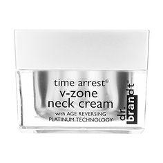 Turn back the clock with Dr. Brandt Time Arrest V-Zone Neck Cream. This firming treatment is made to tighten the neck and décolleté leaving a more youthful, radiant appearance.