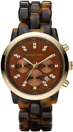Micheal Kors - Oversized Tortoise Watch - Lyst.    I need this in my life for real!