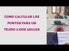 COMO CALCULAR PUNTOS , TEJIDO A DOS AGUJAS - YouTube Knitting Stitches, Projects To Try, Youtube, Lana, Google, Gifs, Tips, Molde, Tutorial Crochet
