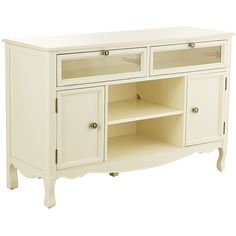 "Pier 1 Imports Madeline Antique White 52"" Tv Stand ($650) ❤ liked on Polyvore featuring home, furniture, storage & shelves, entertainment units, drawer furniture, antique white media cabinet, bone furniture, beige furniture and pier 1 imports furniture"