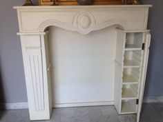 7 Eloquent Clever Hacks: Tv Over Fireplace Console large fireplace castle.Concrete Fireplace With Built Ins corner fireplace remodel.Whitewash Fireplace With Built Ins. Faux Fireplace Mantels, Fireplace Surrounds, Fireplace Design, Mantles, Fireplace Cover, Fireplace Drawing, Cabin Fireplace, Fireplace Kitchen, Fireplace Bookshelves