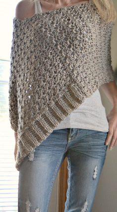 CROCHET PATTERN- Delia Precious Poncho, Crochet Poncho pattern, shawl pattern… Más