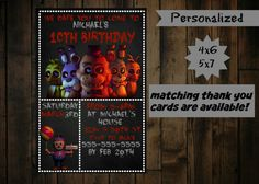 Five Nights at Freddy's Invitation   by PurplePalaceDesigns