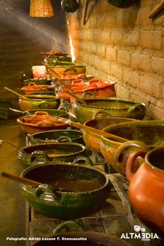Mexican clay cooking bowls. I still cook in mine from my abuelitos home.