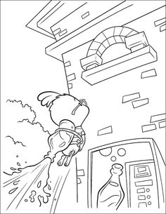 Chicken Little and Father Coloring Page Chicken Little car