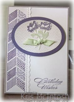 First use of this stamp set but I love the results.  Inspired by all the gorgeous samples here on Pinterest.