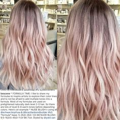 Golden Blonde Balayage for Straight Hair - Honey Blonde Hair Inspiration - The Trending Hairstyle Blond Rose, Pink Blonde Hair, Pink Ombre Hair, Pastel Pink Hair, Balayage Hair Blonde, Baby Pink Hair, Light Pink Hair, Hair Color Formulas, Rose Hair