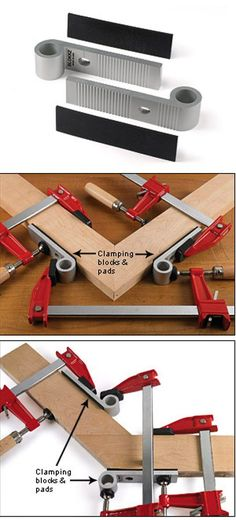 Blokkz Clamping Blocks - Attached to your work, these blocks provide a secure footing for clamps.     http://www.leevalley.com/en/Wood/page.aspx?p=70643&cat=1,43838