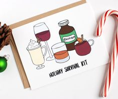 Funny Holiday Card  by Row House 14