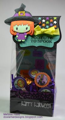 Today the Jaded Blossom Design Team and I are creating with the Too Cute to Spook Stamp set. Dulceros Halloween, Halloween Paper Crafts, Holidays Halloween, Halloween Treat Holders, Halloween Treat Bags, Trick Or Treat Bags, Treat Box, Kawaii Gifts, Deco Table