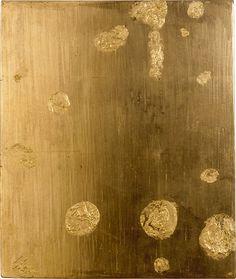 gacougnol: Yves Klein Monogold sans titre (MG 30 x 25 cm. More Yves Klein Yves Klein, Golden Aesthetics, Nouveau Realisme, Art Database, French Artists, Oeuvre D'art, Artist Art, Form, Contemporary Artists