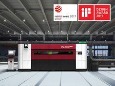 Fiber is a high-power laser cutting machine of the long-bridge type. 2017 Design, One Design, Wall Design, Layout Design, Modern Design, Industrial Machine, Vintage Cafe, Machine Design, Modern Exterior