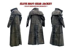Tactical Wear, Tactical Clothing, Cool Tactical Gear, Tactical Armor, Larp Armor, Ncr Ranger, Body Armor Vest, Shoulder Armor, Canvas Jacket
