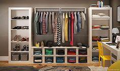 Quarto Modulado Closet Completo Branco - Caaza | Lojas KD