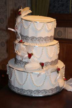 gteau urne en carton pour mariage - Urne Mariage Moto