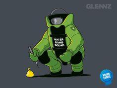 Water Bomb Squad - A Glennz Tees Original T-Shirt