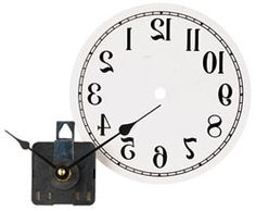 Originally, the Reverse Clock was mounted on a wall opposite a mirror to indicate the time to customers in barber shops.