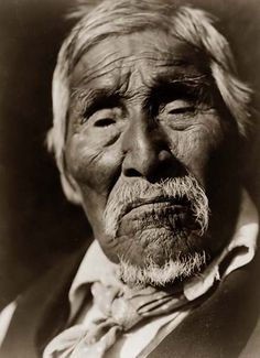 Old Bob, a Karok Indian Man, 1923 by Edward S. Curtis.