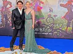 Johnny Depp & Mia Wasikowska from Movie Premieres: Red Carpets and Parties!  The Alice Through The Looking Glass premiere at Odeon Leicester Square in London was a colorful affair.