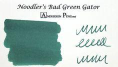 Noodler's Bad Green Gator Ink (3oz Bottle) Fountain Pen Ink