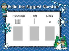 Help kids work on their place value math skills with this fun and engaging place value game!