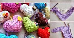 Paso a paso de corazón crochet + muchas publicaciones de distintas prendas criochet con forma de corazon