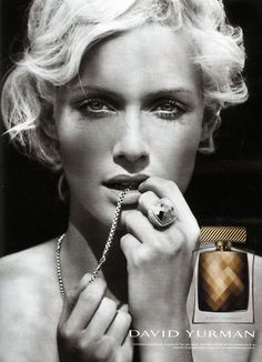 Amber Valletta for David Yurman Fragrance (photo by Peter Lindbergh)