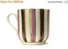 20% OFF Art Deco Porcelain Mustache Cup. Pink by LeBonheurDuJour