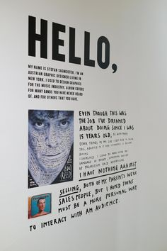 The Happy Show by Stefan Sagmeister Moca Museum, Emo, Happy Show, Stefan Sagmeister, Experiential Marketing, Event Branding, Hello My Name Is, Design Research, Hand Type