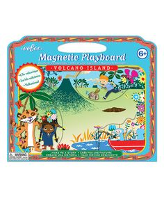 This Volcano Island Make a Story Magnetic Playboard Set is perfect! #zulilyfinds